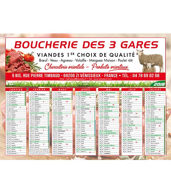 Calendriers de Banque Français Géant